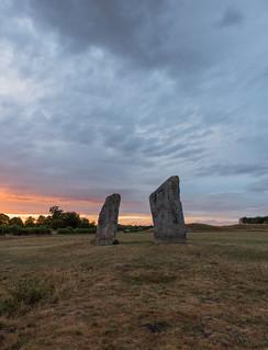 Sunset, Avebury, Wiltshire