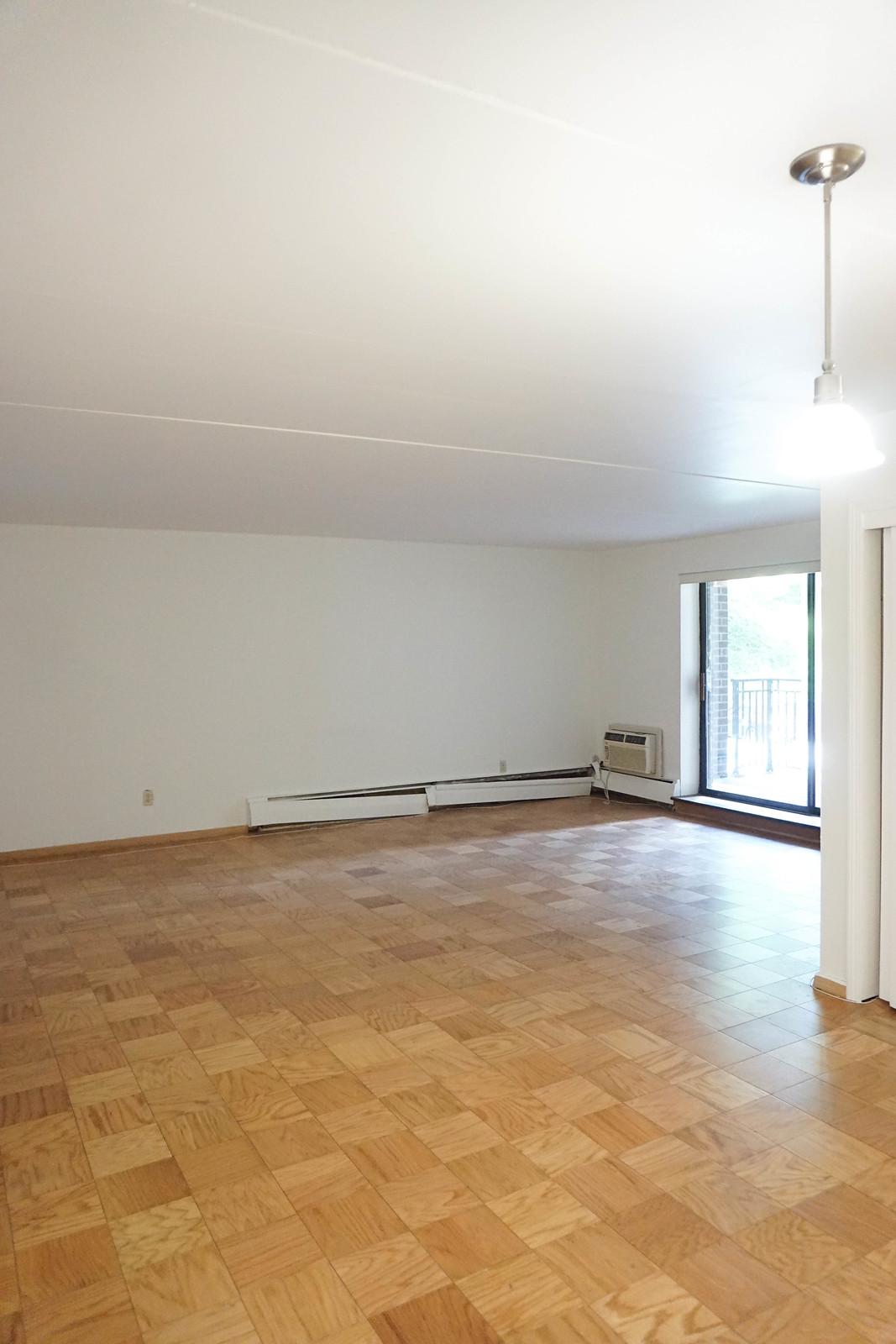 750 square foot New York Apartment Before Photos | Open Floor Plan Kitchen Living Room Dining Room