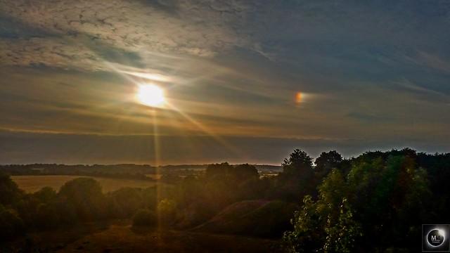 Right Side Parhelion (Sundog) over Kirtlington Quarry (2) 7:42 pm BST 21/0718