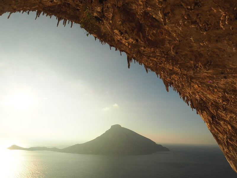 The centrepiece of Kalymnos climbing is the Grande Grotte.