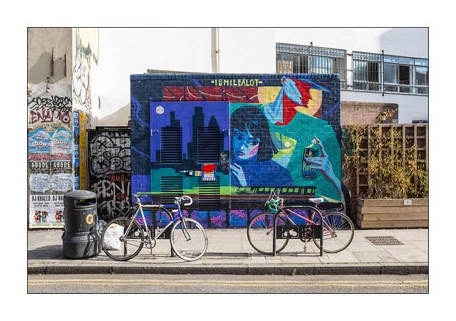Street Art (Ismilealot), East London, England.