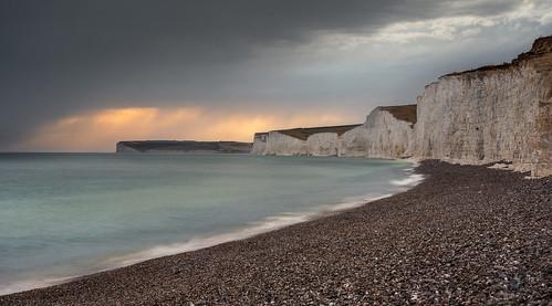 birlinggap sevensisters whitecliffs white eastbourne sunset england nikond7200 sigma350mmf14
