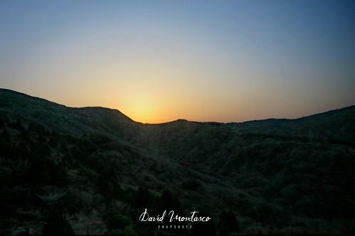 箱根 日の出 hakone sunrise mountain silhouette sky landscape dawn
