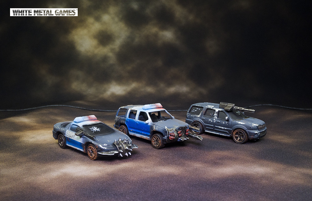 Gaslands Cars | Kit Bashed and repainted | White Metal Games