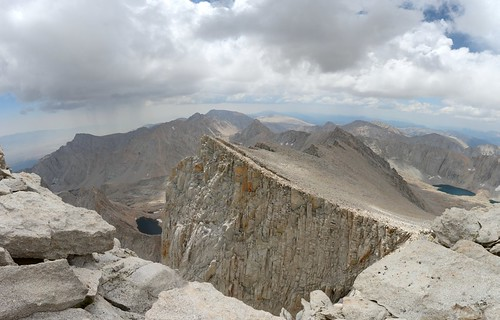 1571 View south from the John Muir Trail from nearly the summit of Mount Whitney   by _JFR_