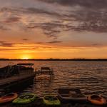 Dead Lake Sunset Colors