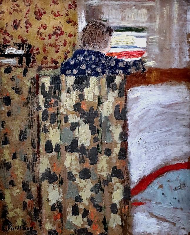 IMG_9179 Edouard Vuillard. 1868-1940. Paris.   Le placard à linge.  The linen closet. 1893.  Paris. Orsay