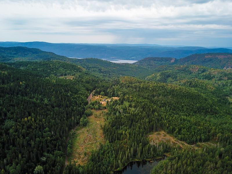 10-Utsikt mot Skulkerud fra Plassane (drone)