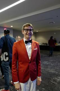 David in proper attire