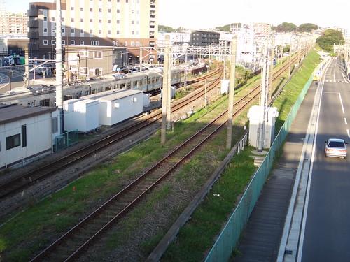 Atsugi line of Sagami Rwy. and Sagami line of JR