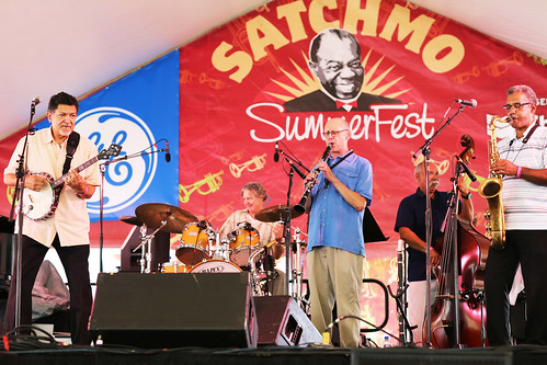 Don Vappie & the Creole Jazz Serenaders at Satchmo SummerFest - Aug. 3. 2018. Photo by Bill Sasser.