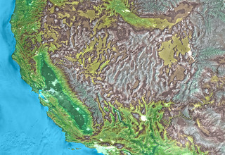 Western United States Elevation Map with Cities | Edited SRT ...