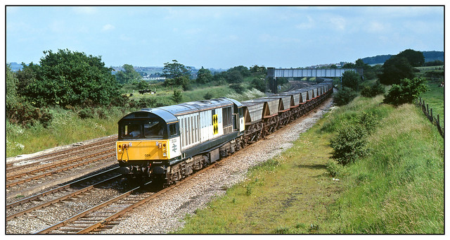 58 024 with down coal empties at Langley Mill.