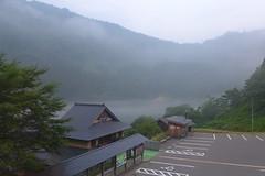 早戸温泉「つるの湯」と只見川