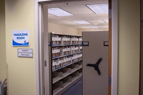 Magazine archive room