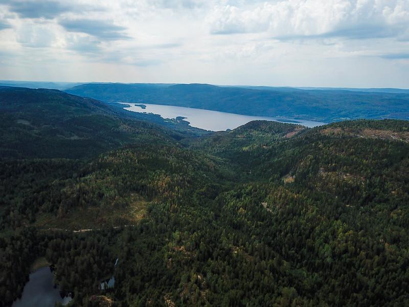 39-Utsikt mot Eikern fra Langetjern (drone)