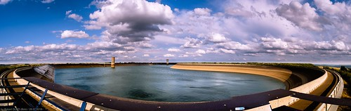 clouds cumulus landscape landscapes panorama pond reservoir weather vianden luxembourg lu