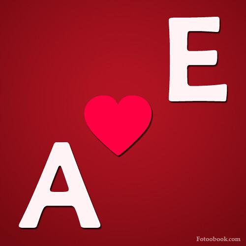 صور حرف A مع E , صور a و E رومانسية حب , خلفيات قلب جديدة … | Flickr