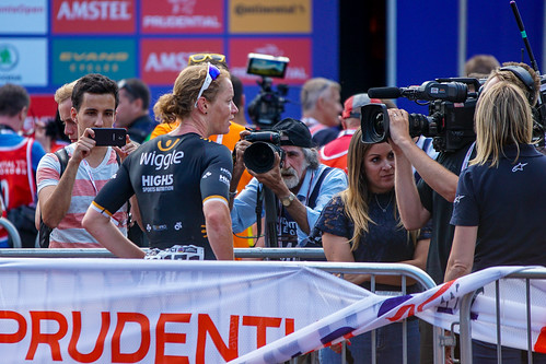 Kirsten Wild gives post race interview to Eurosport | by adambowie