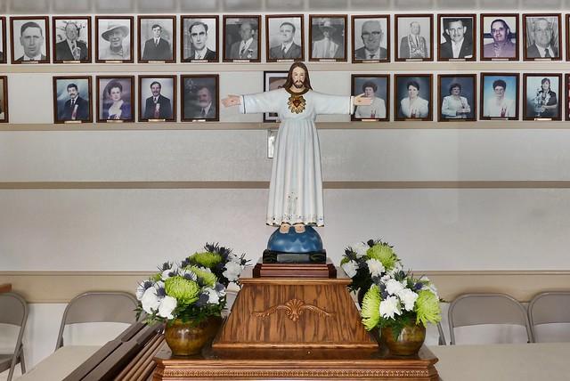 Jesus on the Pedestal for Holy Ghost Festa