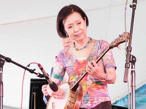 Keiko Toyama with Yoshio Toyama & the Dixie Saints at Satchmo SummerFest - Aug. 4, 2018. Photo by Michele Goldfarb.