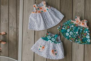 Knit Geranium Dresses + BABY FEET!