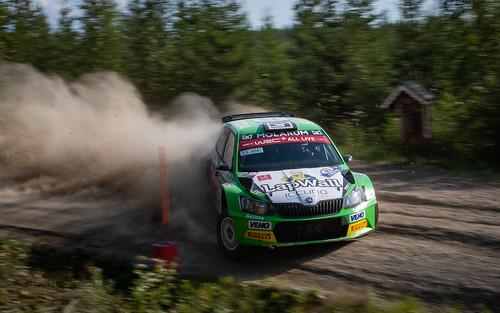 red rally finland 2018 rallying rallye racing ralli race rallyfinland nesteoilrallyfinland nikon motorsport auto action sport rallycar eerik pietarinen juhana raitanen skoda fabia r5