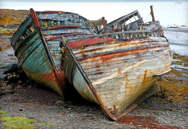 Two Boats. Isle of Mull. Scotland.