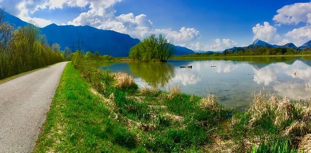 River Inn near Ebbs, Tyrol, Austria