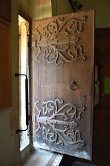 ironwork on the south door (formerly the north door)