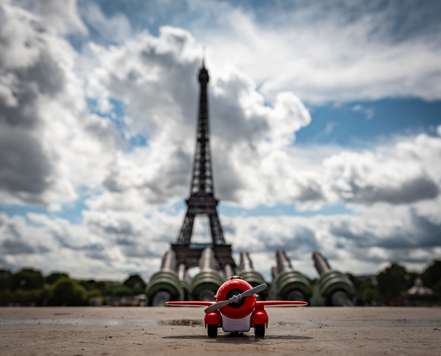 We flew into the city of Love....