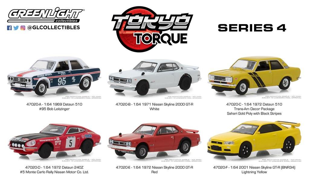 Greenlight1:64 Tokyo Torque Series 3-1971 Nissan Skyline 2000 GT-RNew