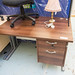 4 ft Desk with drawers E135