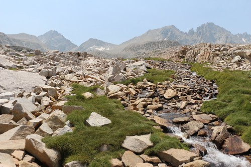 0659 The headwaters of Bubbs Creek with Forester Pass (center) on the John Muir Trail | by _JFR_