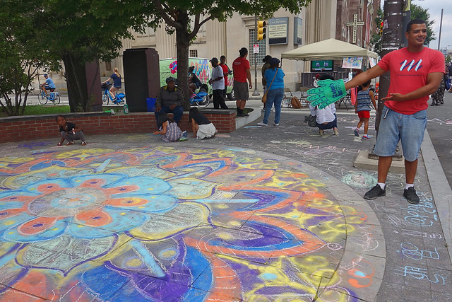 mandala chalk art