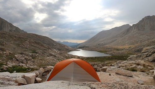 1239 My tent and campsite with excellent views at the small pond above Guitar Lake on the John Muir Trail | by _JFR_