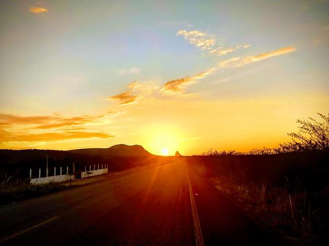 Sunset in Ponta Aguda, BA-493 de Santa Terezinha para Itatim