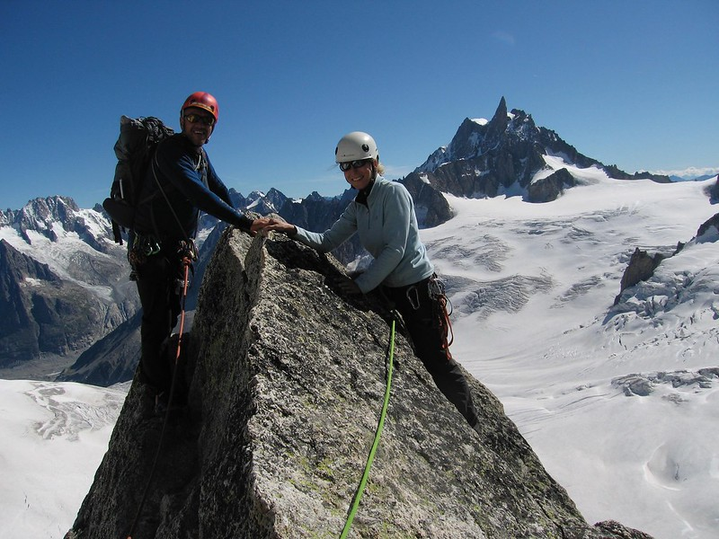 Summit of the Pyramide du Tacul, Chamonix, France