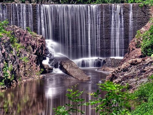 longexposure motion waterfall movement listeningto nj tajmahal ev waterfalls hdr bridgewater 32mm f6 middlebrook 3seconds iso50 photomatix nd400filter blueswithafeeling