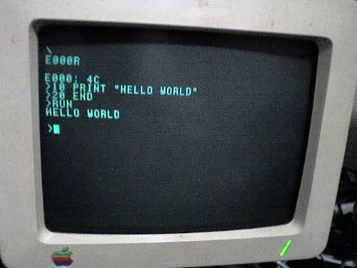Apple IIc monitor | by mrbill