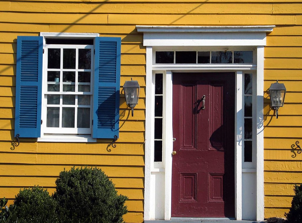 Red Door Blue Shutters Yellow House Washington Virginia Jody Miller Flickr
