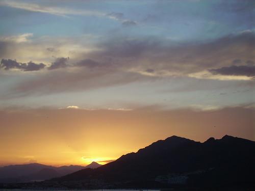 Puerto de Mazarron sunset