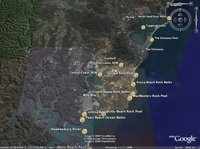 Central Coast Australia Map.Sites Of Ocean Baths On The Nsw Central Coast Australia Flickr