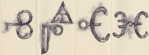 Drawings: Glagolitic script