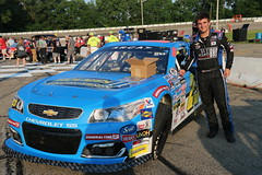 6.15.18 2018 Herrs Potato Chips 200 / Madison International Speedway - 23 Bret Holmes beside car