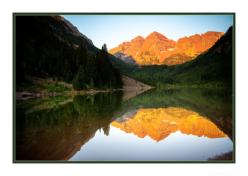 aspen colorado sunrise maroonbells