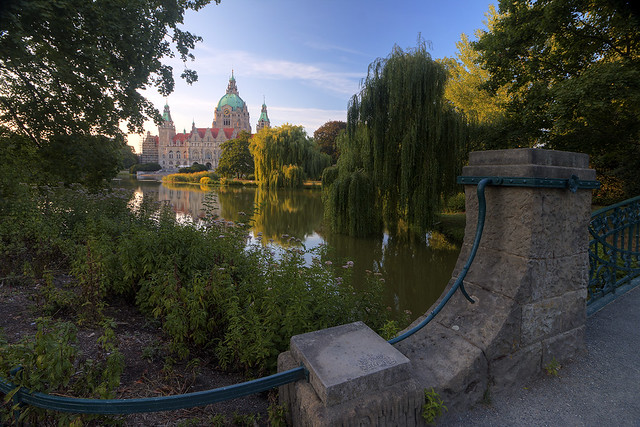 warm evening in hannover