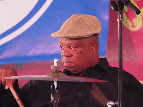 Joe Lastie's New Orleans Sounds at Satchmo SummerFest - Aug. 4, 2018. Photo by Michele Goldfarb.