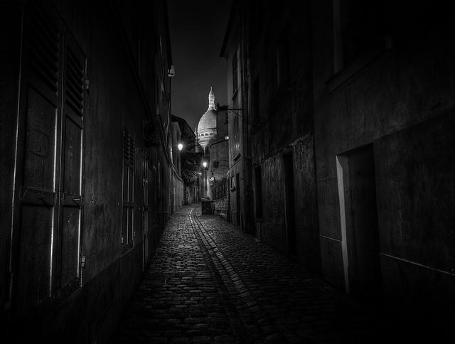 Rue quartier Montmartre