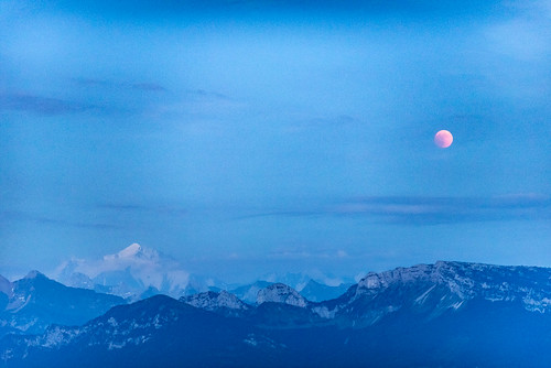 Moon Eclipse 2018 over Mt Blanc | by iegienie